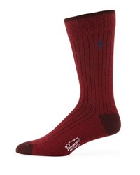 Penguin Providence Combed Cotton Marled Socks Burgundy