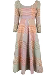 Rosie Assoulin Checked Midi Dress Multicolour