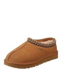 Ugg Tasman Suede Fur Lined Slippers Chestnut