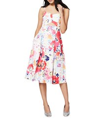 Rachel Roy Floral Print Fit And Flared Dress Watercolor