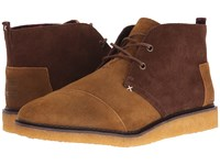 Toms Mateo Chukka Boot Brown Chestnut Oiled Suede Men's Lace Up Boots Beige