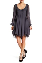 Free People Tatiana Beaded Swing Dress Blue