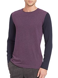 Vince Two Tone Raglan Tee Purple Multicolor