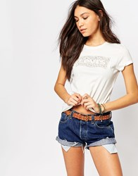Levi's Floral Batwing Logo T Shirt White