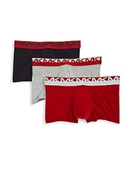 Michael Kors Stretch Cotton Boxer Briefs Pack Of Two Ruby Black