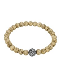 Lotus Seed Beaded Bracelet With Magnetic Clasp John Hardy Silver