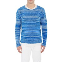 The Elder Statesman Marled Cashmere Sweater Lt. Blue
