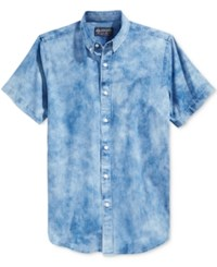 American Rag Men's Tie Dye Denim Shirt Only At Macy's Blue Wash