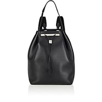 The Row Leather Drawstring Backpack 11 Black