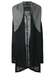 Lost And Found Ria Dunn Sleeveless Cardigan Men Cotton Linen Flax Polyurethane Xs Black