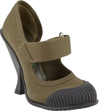 Prada Extended Cap Toe Mary Jane Pumps Green