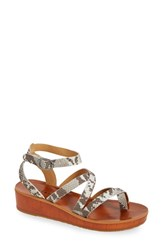 Women's Lucky Brand 'Honeyy' Platform Sandal Grey Leather
