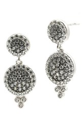 Freida Rothman Women's 'Metropolitan' Drop Earrings Rhodium And Black Rhodium