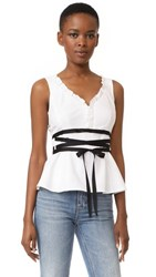 Nanette Lepore Spring Fever Top White