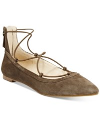 Inc International Concepts Women's Zachh Lace Up Flats Only At Macy's Women's Shoes Mushroom