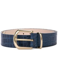 B Low The Belt Textured Buckle Blue