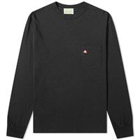 Aries Long Sleeve Pocket Logo Tee Black