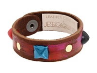 Leather Couture By Jessica Galindo Studded Petite Cuff All Mix Bracelet Multi