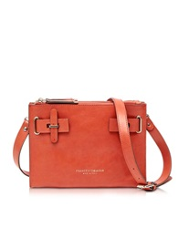 Francesco Biasia Hampstead Orange Leather Crossbody Bag