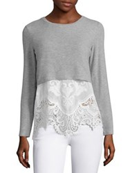 Generation Love Millie Insert Silk Blend Sweater Grey