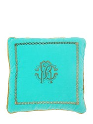 Roberto Cavalli Venezia Cotton Accent Pillow Green
