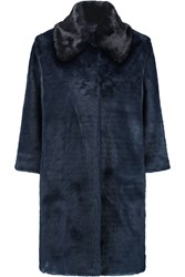 Ainea Two Tone Faux Fur Coat Blue