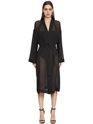 Gentryportofino Silk Gauze And Viscose Knit Duster Coat