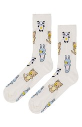 Women's Topshop Glitter Animal Socks