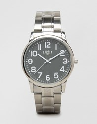 Limit Silver Bracelet Watch With Grey Dial Exclusive To Asos Silver