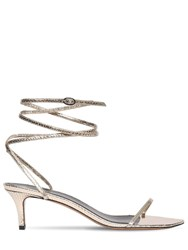 Isabel Marant 50Mm Aridee Python Print Leather Sandals Gold