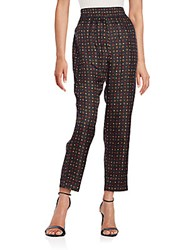 Isabel Marant Printed Silk Cropped Pants Multi