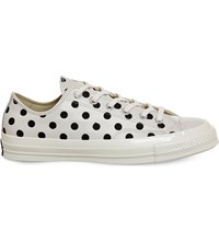 Converse All Star Ox 70S Leather Low Tops Parchment Polka Dot