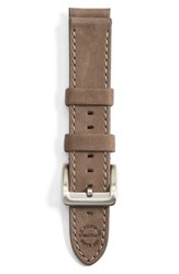 Men's Filson Leather Watch Strap Heather Grey