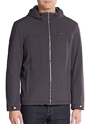 Tommy Hilfiger Faux Fur Lined Hooded Jacket Charcoal