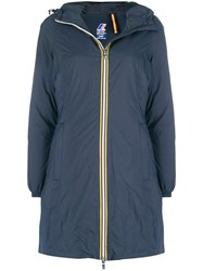 K Way Charlene Hooded Coat Blue