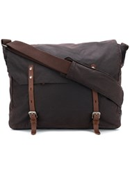 Ally Capellino Buckled Messenger Bag Brown