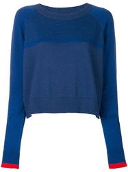 Lndr Round Neck Raglan Sweater Blue