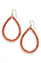 Sonya Renee Women's Sonyarenee 'Mazzy' Teardrop Earrings Carnelian
