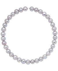 Honora Style Cultured Freshwater Pearl 9Mm Coil Choker Necklace Grey