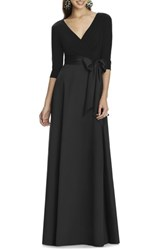 Alfred Sung 'S Jersey Bodice A Line Gown Black