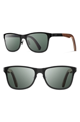 Shwood 'Canby' 54Mm Polarized Titanium And Wood Sunglasses Black Walnut
