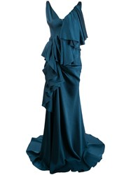 Solace London Tiered Draped Gown 60