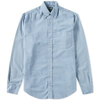 Gitman Brothers Vintage Solid Brushed Flannel Shirt Blue