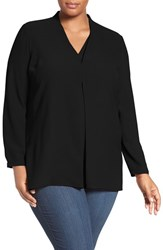 Nic Zoe Plus Size Women's 'Minimalist' V Neck Blouse