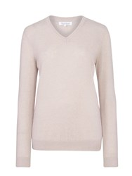 Tulchan Luxury V Neck Jumper Parchment
