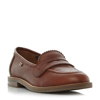 Barbour Dianne Block Heel Loafer Shoes Brown