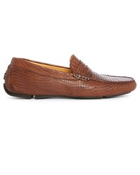 Armani Collezioni Brown Croc Slip On
