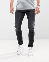 Casual Friday Slim Fit Jeans In Washed Black Black