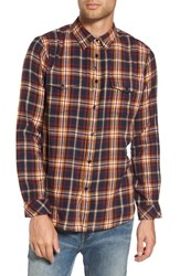 Imperial Motion Henderson Flannel Shirt Navy Gold