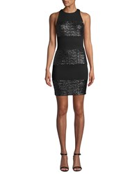 Bailey 44 Do The Hustle Sequined Cocktail Dress Black